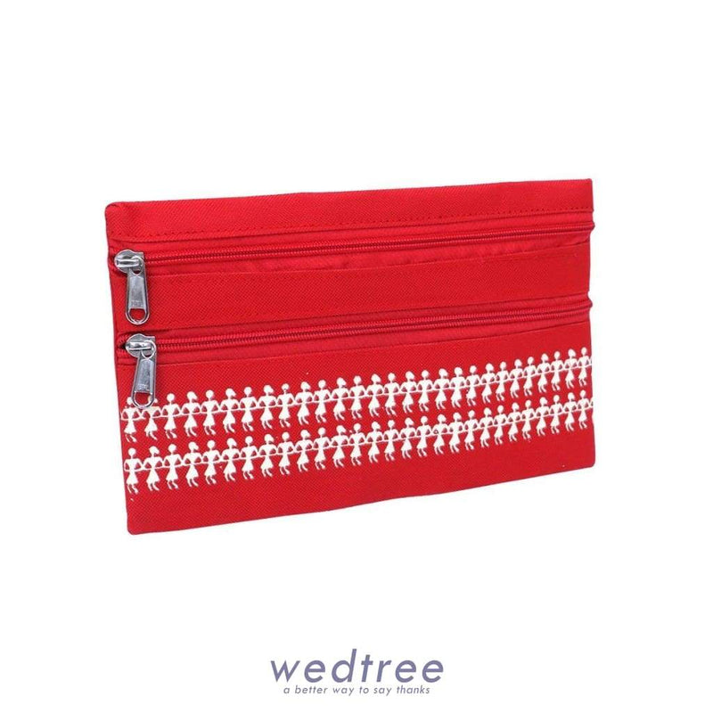 Purse With Warli Design 9 X 5.5 Inch Clutches & Purses