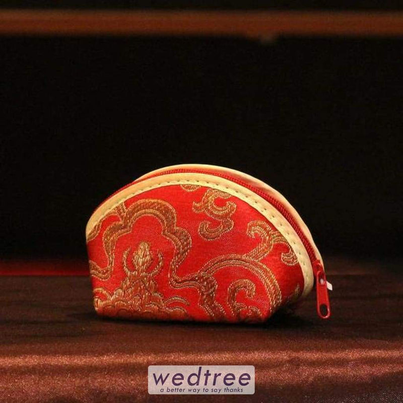 Raw Silk Coin Purse - W3254 Clutches & Purses