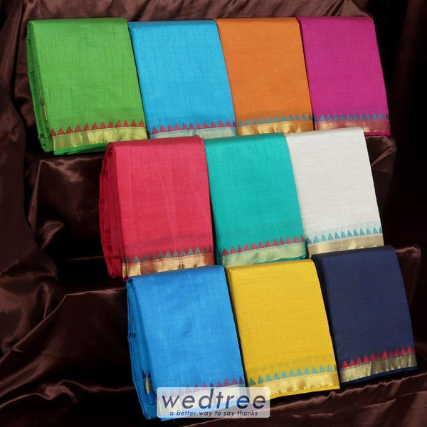 Raw Silk Sarees Gift Pack Of 10 Saree