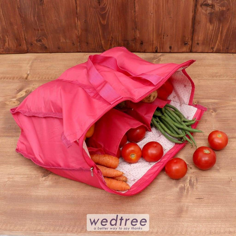 Rexine Vegetable Bag With Zip - W3783 Utility Return Gifts
