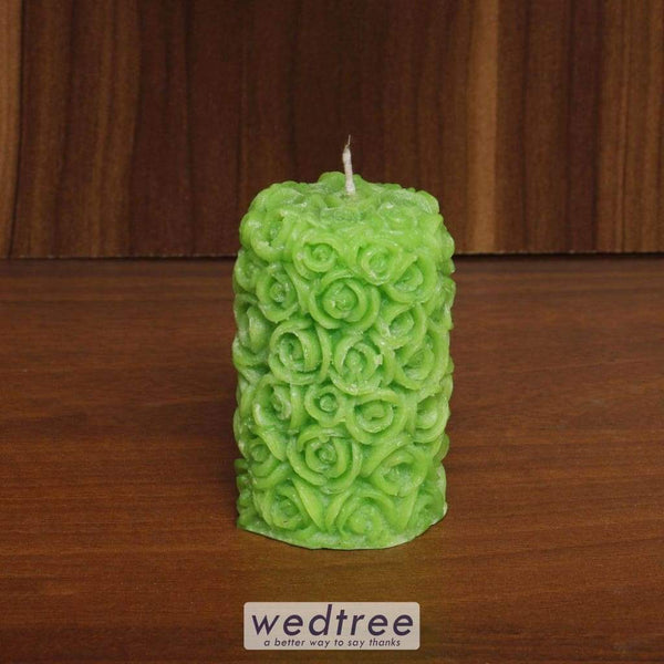 Rose Pillar Candle - W4477 Candles