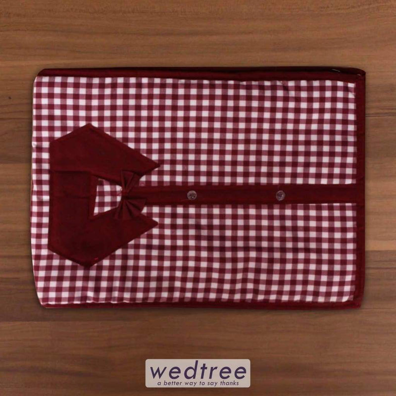 Shirt Cover With Checks Design - W3562 Utility Return Gifts