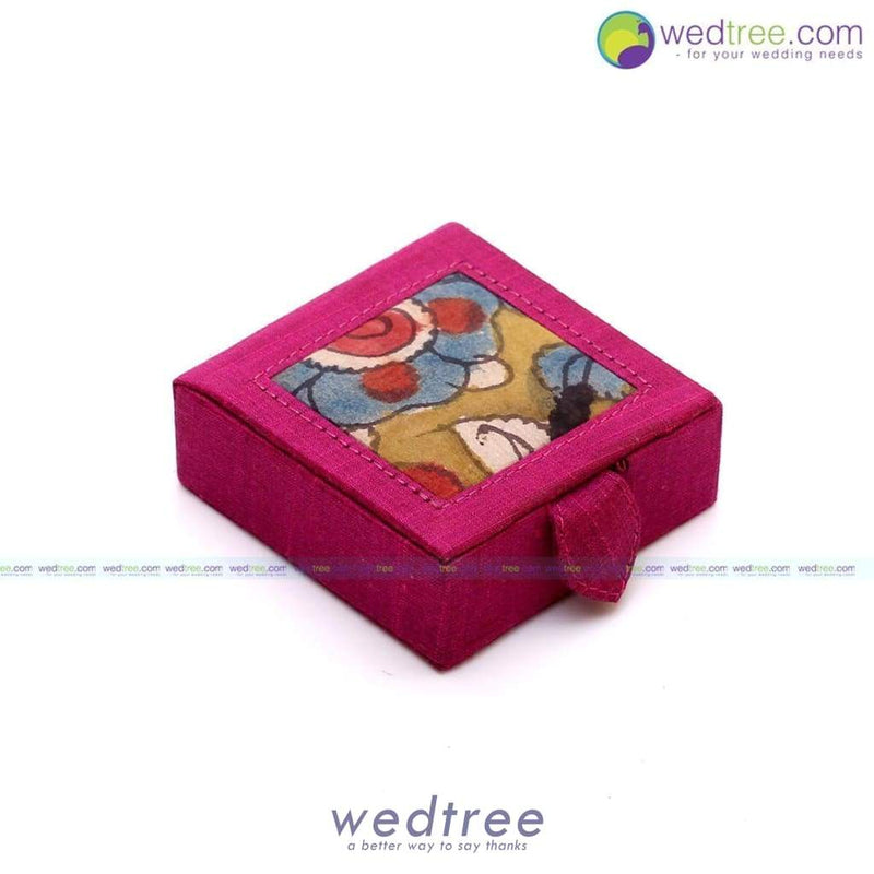 Silk And Kalamkari 3X3 Gift Box - Wdg0010 Utility Return Gifts