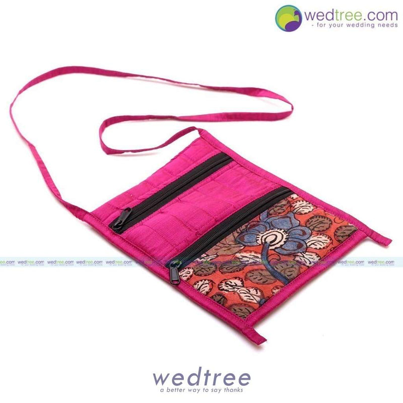 Silk And Kalamkari Sling Bag - Wdg0008 Bags