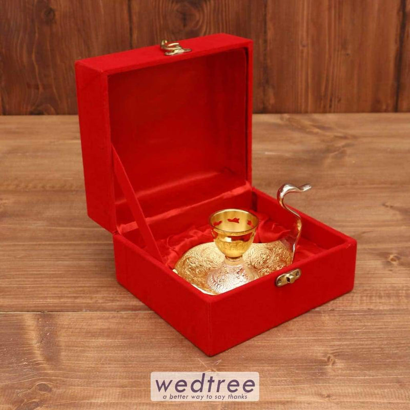 Silver & Gold Plated Dhoop Stand - W3718 Pooja Utilities