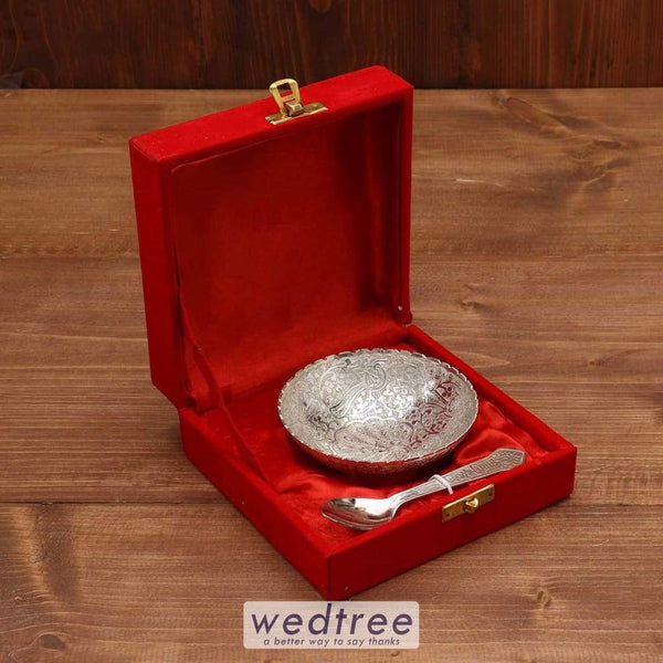 Silver Plated Bowl 4 Inch - W3719 Utility Return Gifts