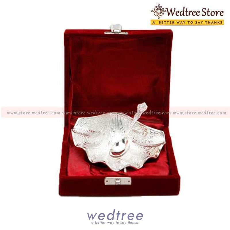 Silver Plated Shell Bowl Big Home Decors
