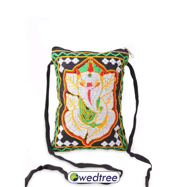 Sling Bag - Ganesh Design Thread Embriodary Bags