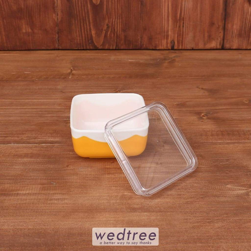 Square Bowl Container With Air Tight Lid - W3657 Utility Return Gifts