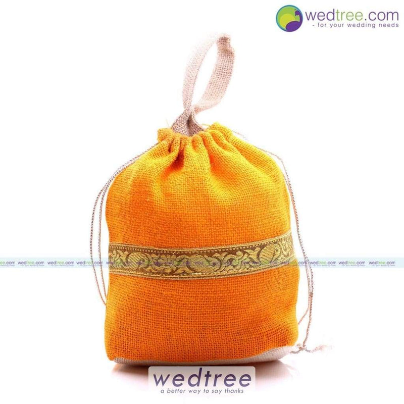 String Bag - Jute With Zari Potli Bags