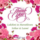 Thank You Card - Floral Design