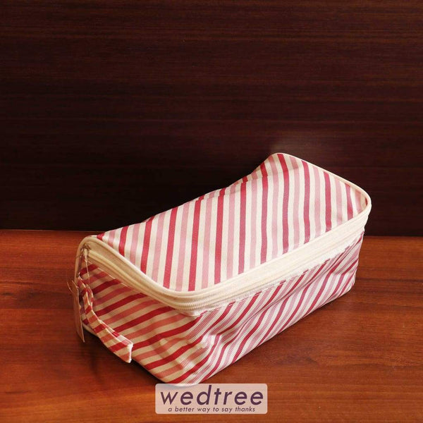 Vanity Pouch Stripe Design Set Of 4 - W4552 Travel Kits