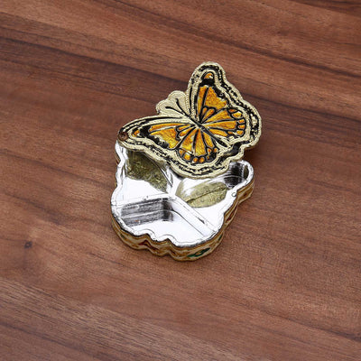 Minakari - Butterfly dry fruit box mini W2223 Return gift at $1.16