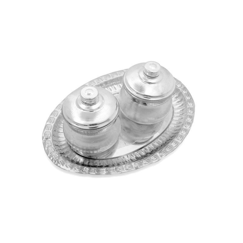 Silver plated dibbi set