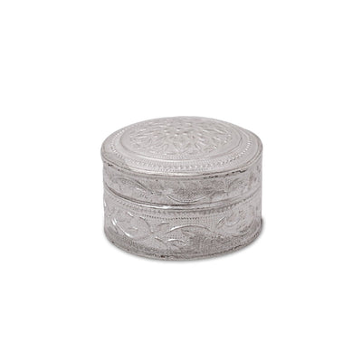 Silver plated kum kum box medium W2409 Return gift at $2.11