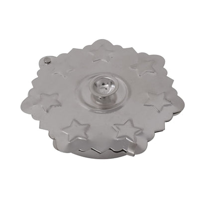 Silver coated kum kum holder with slider W2460 Return gift at $1.47