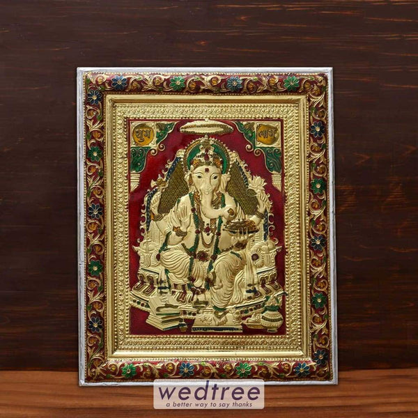 Wall Hanging - Ganesha With Minakari Design Home Decors