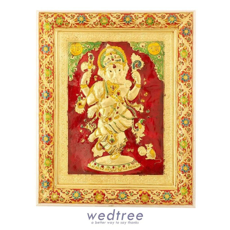 Wall Hanging- Ganesha With Minakari Design Home Decors