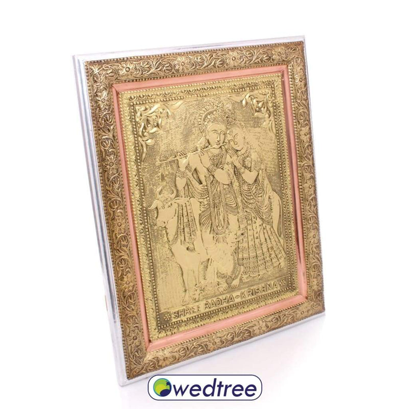 Wall Hanging - Oxidised Radha Krishna 16 Inch Home Decors