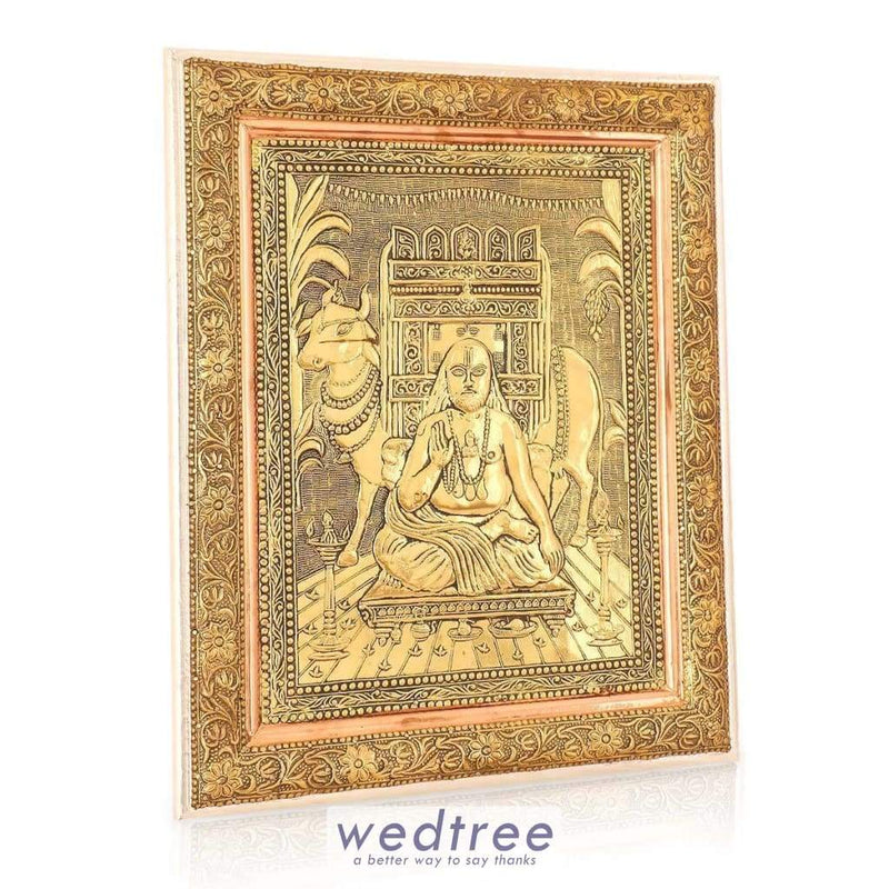 Wall Hanging - Oxidised Raghavendra 16 Inch Home Decors