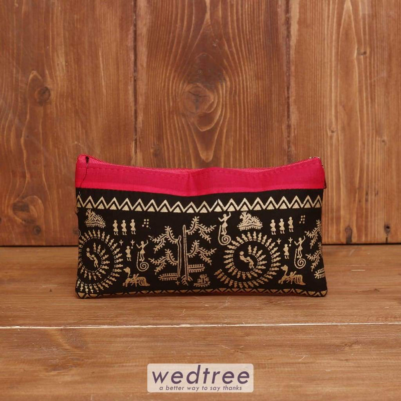 Warli Printed Purse - W3980 Clutches & Purses