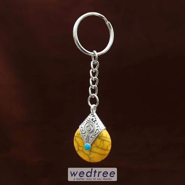 White Metal Key Chain Mixed Design Utility Return Gifts