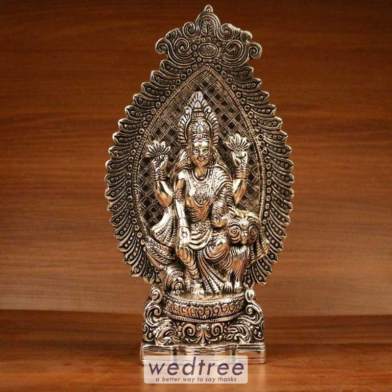 White Metal Oxidised Lakshmi - W3265 Home Decors