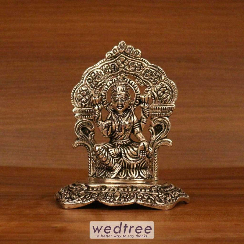 White Metal Oxidised Lakshmi With Frame Divine Return Gifts