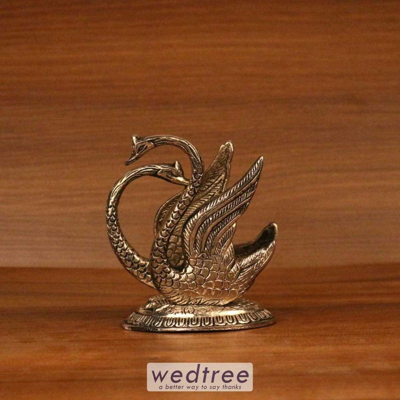 White Metal Oxidised Swan Notebook Holder Utility Return Gifts