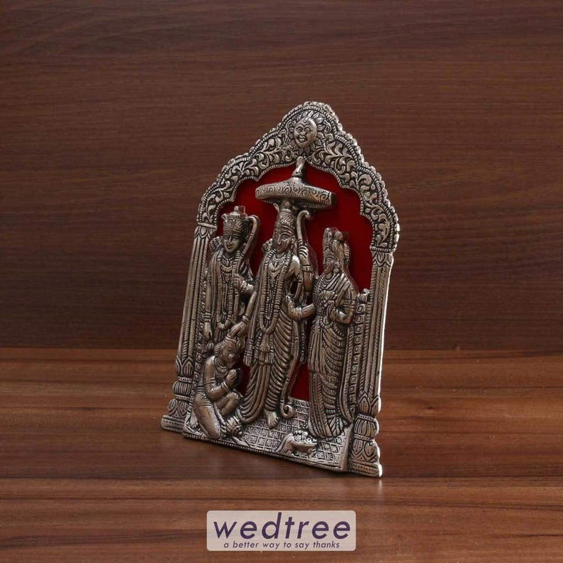 White Metal Ram Darbar Frame Small Divine Return Gifts