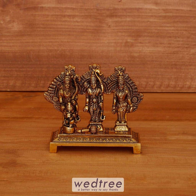White Metal Ram Darbar Gold Oxidised Finish - W4029 Home Decors