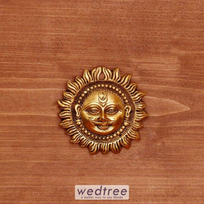 White Metal Suraj Gold Oxidised Finish - W4034 Home Decors