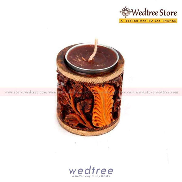Wooden Candle Holder Small Diyas & Holders