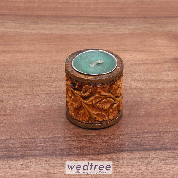 Wooden Candle Holder - W3472 Diyas & Holders
