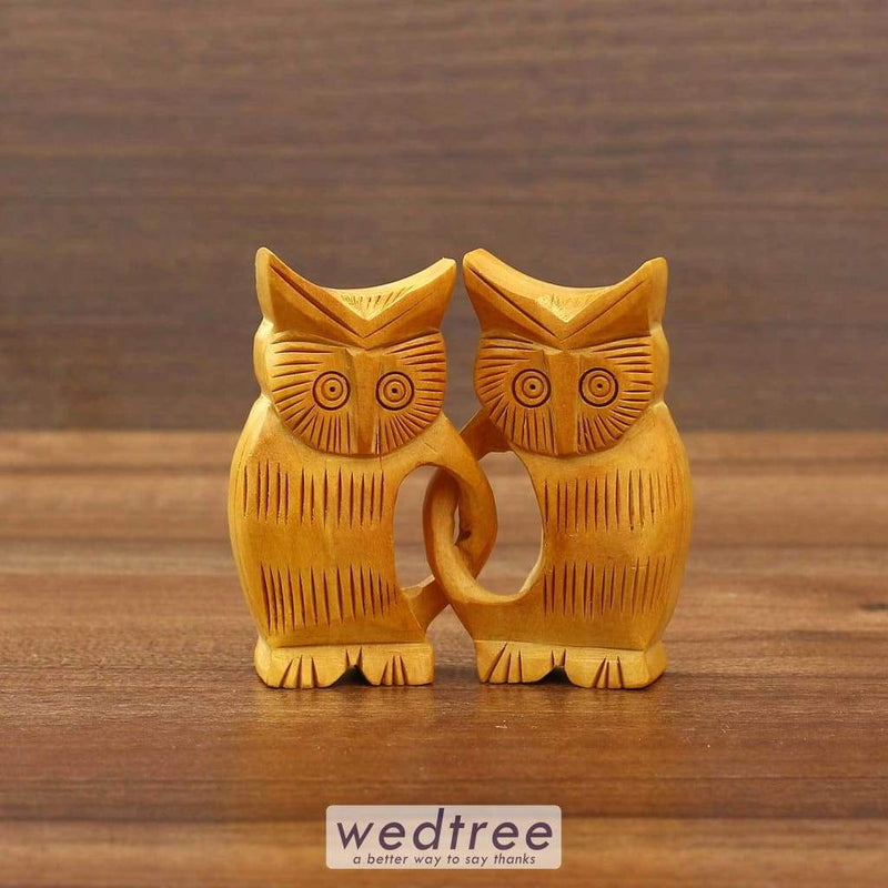Wooden Cat Twins Home Decors