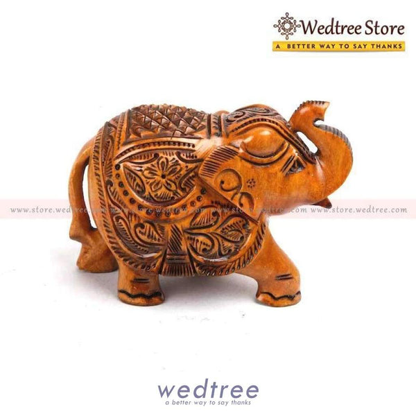 Wooden Elephant Carved Big Home Decors