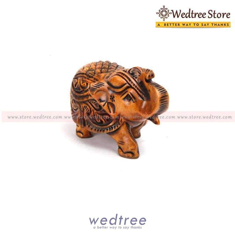Wooden Elephant Carved Small Home Decors