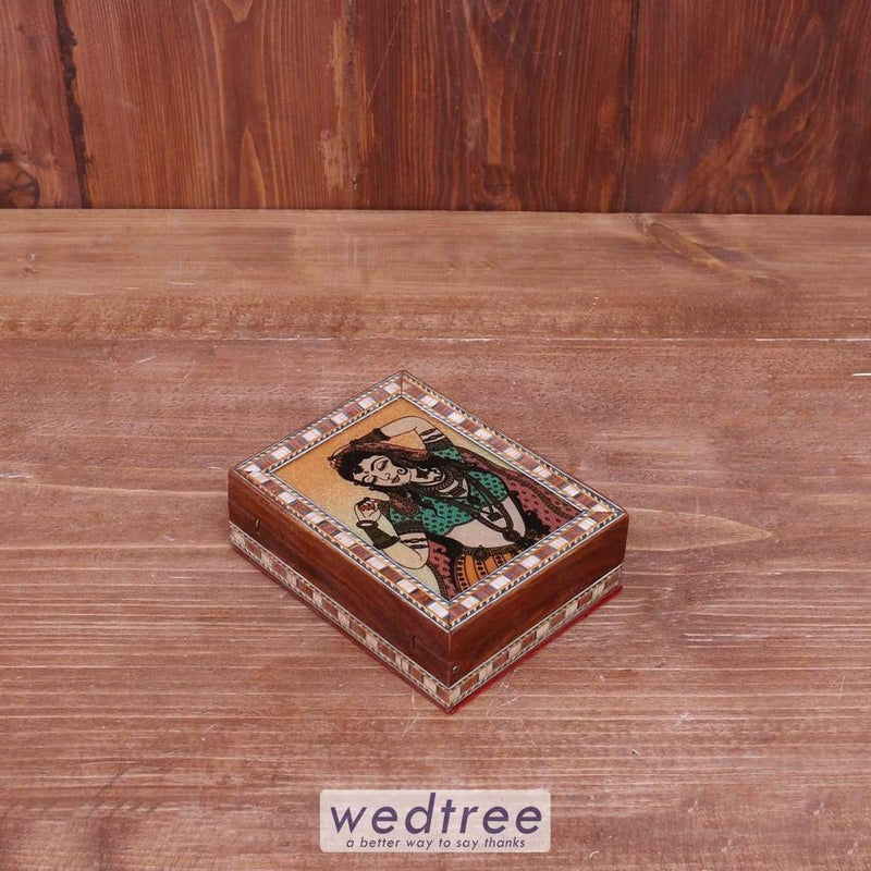 Wooden Gem Stone Painting Box - 3X4 W0231 Utility Return Gifts