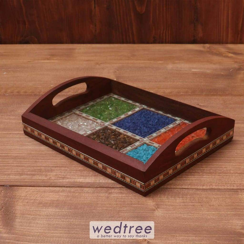 Wooden Gem Stone Tray 6X8 Inch Trays & Plates
