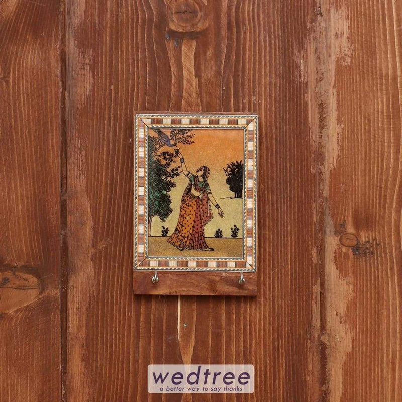 Wooden Gemstone Painting Key Hanger 4 X 3 Inch - W3930 Hangers