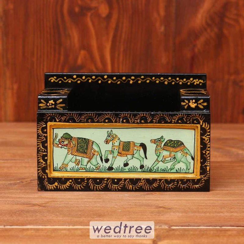 Wooden Hand Painted Card Holder - W3619 Utility Return Gifts