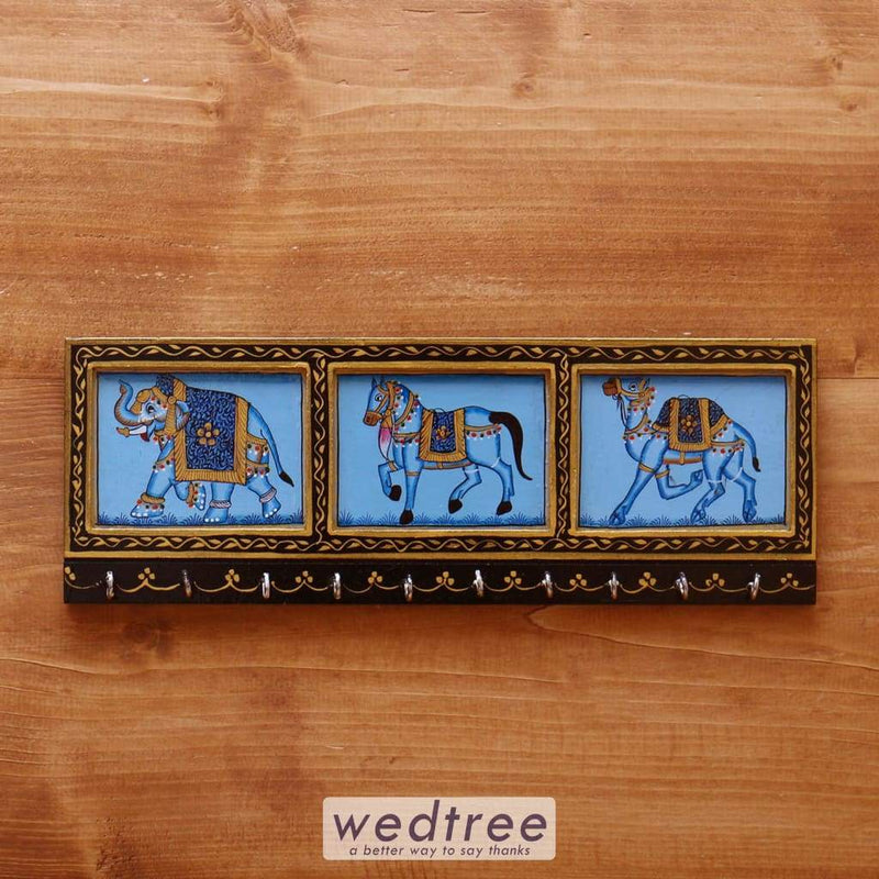 Wooden Hand Painted Key Hanger 14 Inch - W4094 Hangers