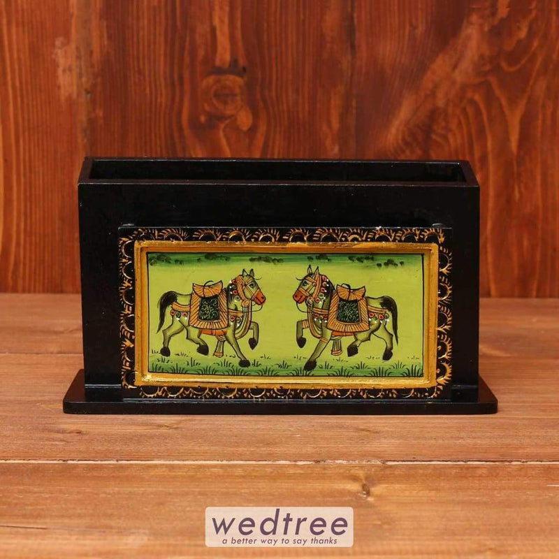 Wooden Hand Painted Letter Pad Holder - W3618 Utility Return Gifts
