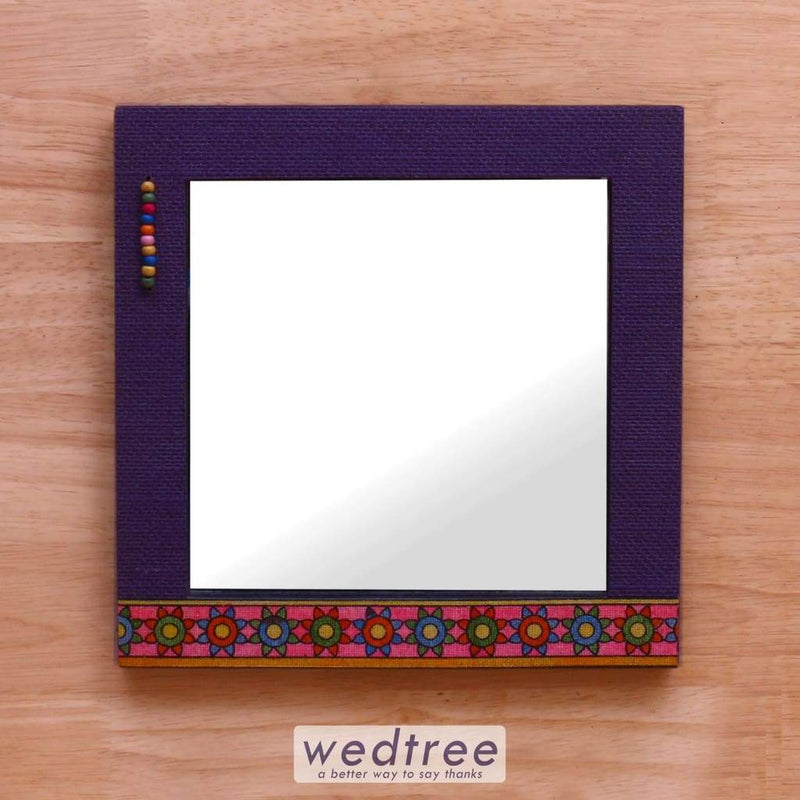 Wooden Mirror With Jute Frame 10X10 - W4143 Home Decors