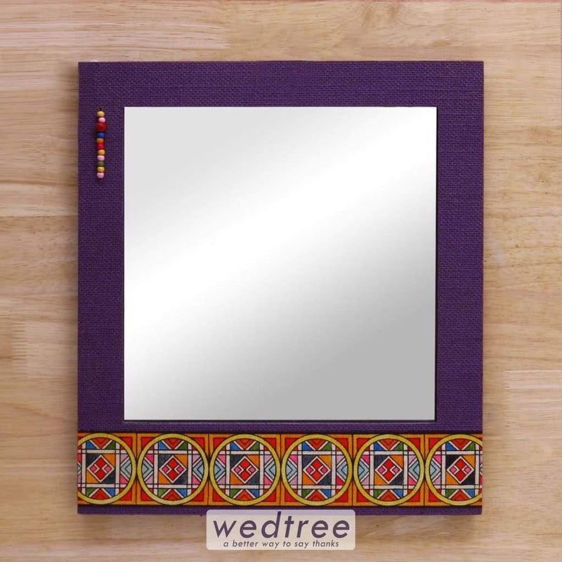 Wooden Mirror With Jute Frame 13X15 - W4131 Home Decors