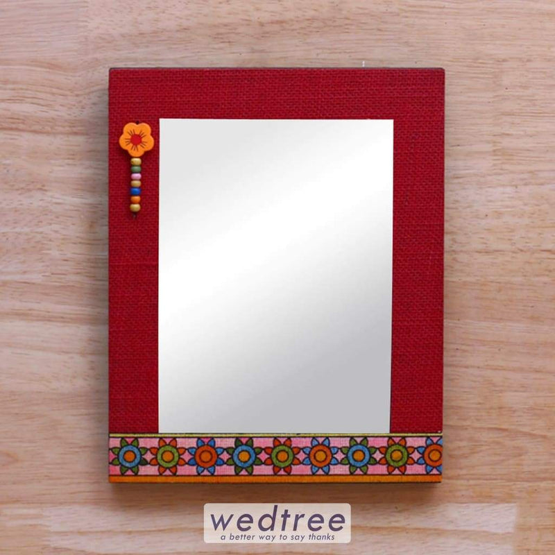 Wooden Mirror With Jute Frame 8 X 10 - W4135 Home Decors