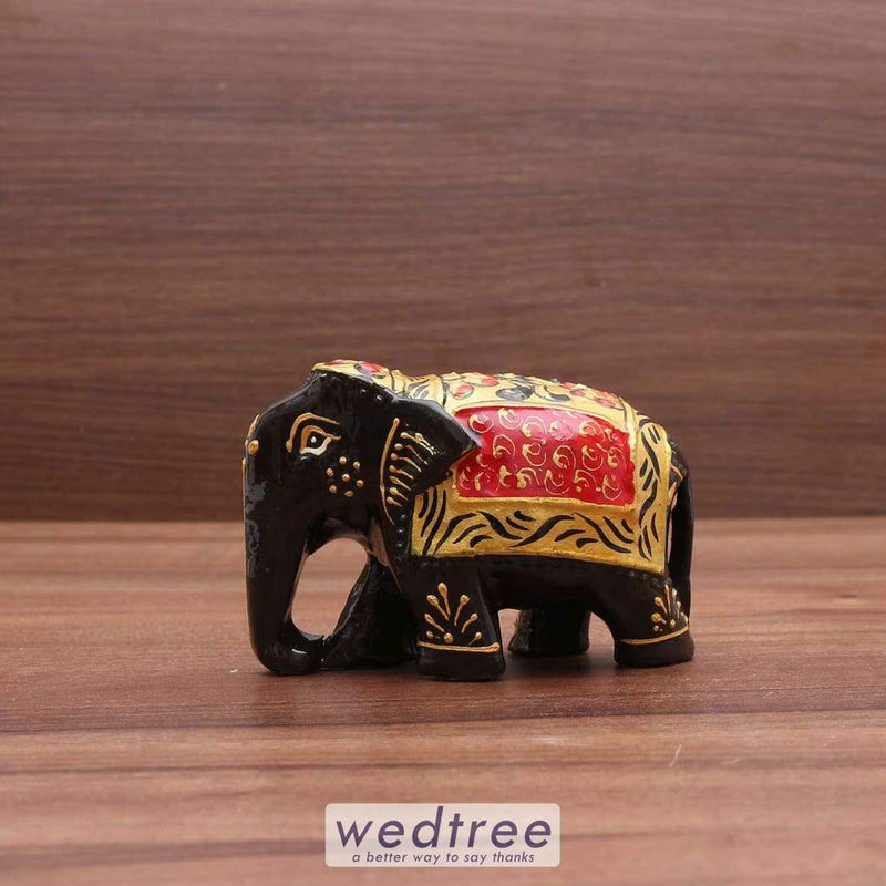 Wooden Painted Elephant 2 Inches Home Decors