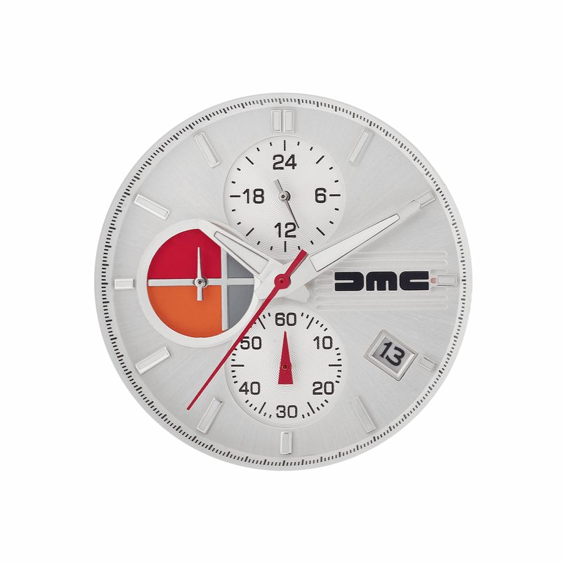 DMC Watches Leather Strap / gb 1981 Silver Chronograph