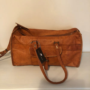 Leather Overnight Bag (Medium)