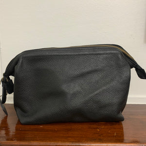 Toiletry Bag Black Leather